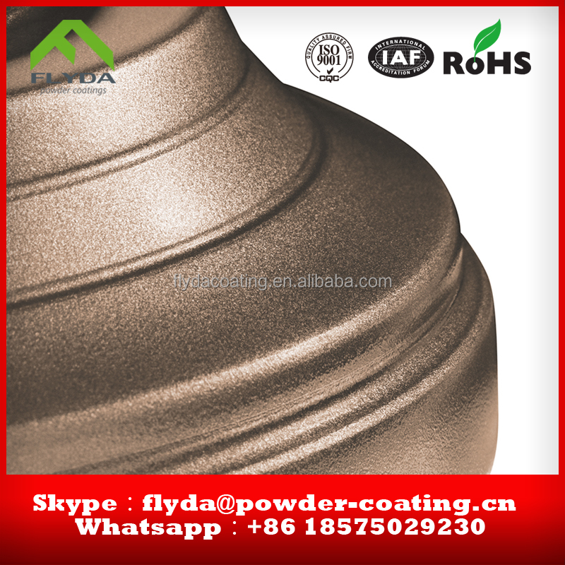 RoHS Standard silver copper gold bronze powder coating/High quality Silver Powder Coating