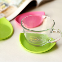 Heat resistant leaf silicone rubber cup mat,China Factory High Quality Anti-Slip Rubber Mat