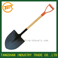 pala, wooden handle steel spade shovel