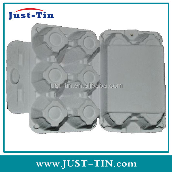 K-eco-friendly pulp 6cell recycled paper food tray