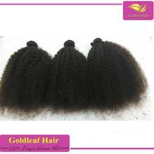 virgin unprocessed malaysian afro kinky curly human hair weft for black woman