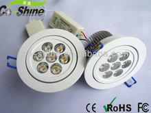CE RoHS AC85-265v white grey 7w 120v led down lighting