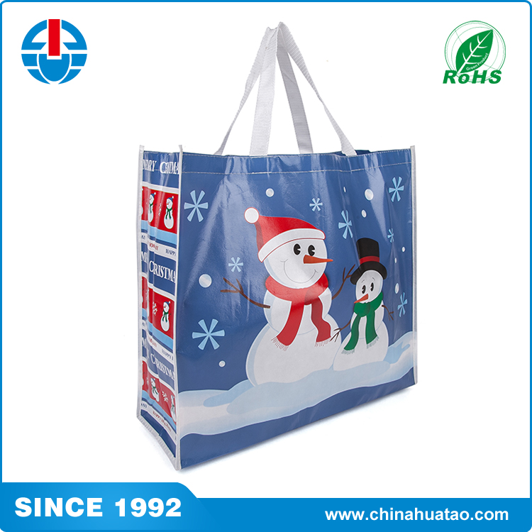 custom Polypropylene PP woven lamination coated shopping recyclable bag