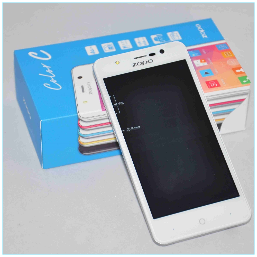 Original 5.0 inch Zp330 Android 4.4 MKT 6732 Quad Core 1GB+ 8GB Single SIM Card zopo 4G mobile phone