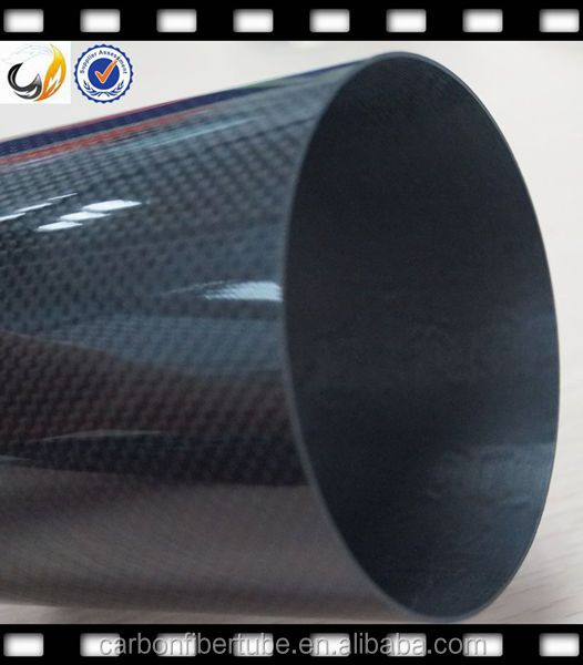 Round and oval carbonfiber/carbonfibre exhaust pipe, CFRP/CFP exhaust pipe