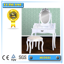 Dressing Table + Stool Makeup Table Storage Mirror Bedroom Vanity Rose series