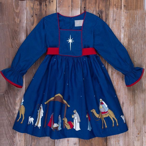 Hot sale baby girls boutique Christmas dress clothes kids long sleeve holiday ruffle dresses