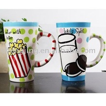 Art Crafts Wholesale Custom Hand-painted Ceramic High Cup Decoration