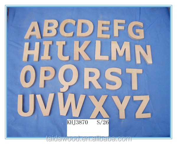 wooden letters for walls