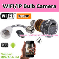 Hidden camera light bulb with IOS and Android app, 12Mega pixels, 160 degree