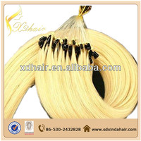 Most popular europe product kinky curly micro loop hair extension