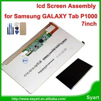 For Samsung Galaxy Tab GT P1000 LCD Display Screen Replacement 7 inch tablet PC screen P1000 LCD complete black white.