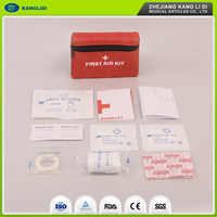 KLIDI Attractive Design Red Color Bags Packing Military Medical First Aid Kit 100 Pieces