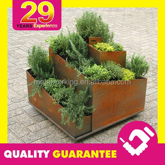 Customized Rusted Steel Corten Fabricator for Outdoor Decorations with 29 Years Experience