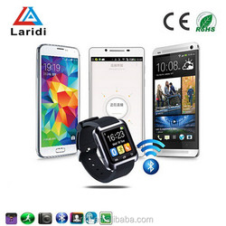 2015 hot selling bluetooth gps unlock smart watch mobile phone U8 wristwatches men and women use android smart phone