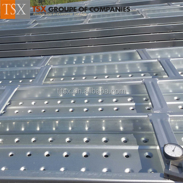 China Manufacturer Tianjin TSX-DP10001 2015 best decking material/aerial work platform/aluminium punched decking