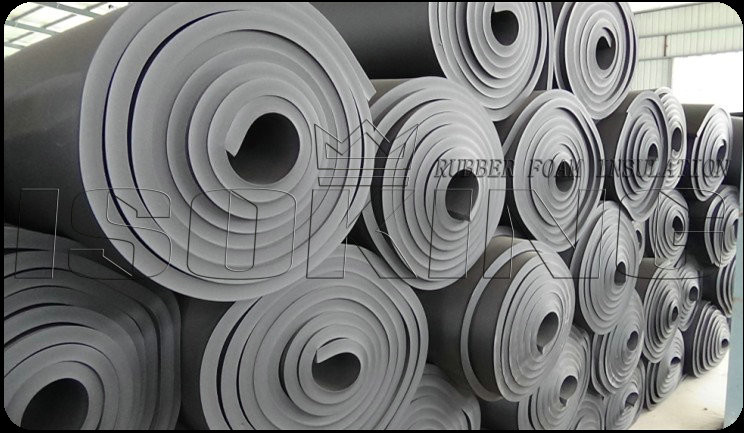 Pipe Insulation Foam Rubber Sheets