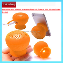 Silicone Bluetooth Speaker For Iphone/Samsung/Laptop/PC/Tablet Mushroom Designed