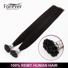 Forever hair brand products 100% brazilian Remy 28 inch u tip human hair extensions