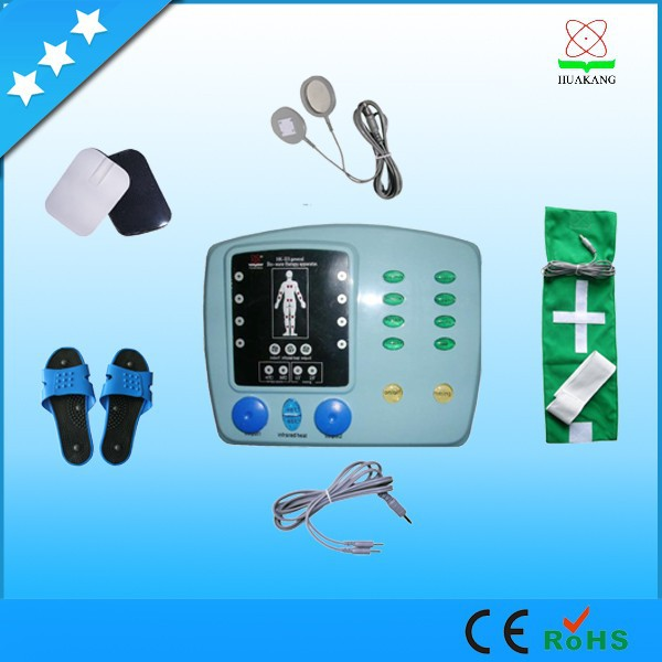 Health product physiotherapy equipment electric pulse massage machine with tens electrodes