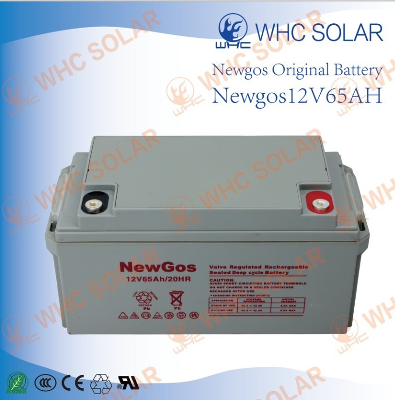 New powerful source value regulated 65AH lead-acid battery for gasoline generator,UPS,solar system,etc