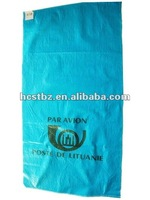 blue pp woven mailing/postal/parcel packaging bag/sack for express company exported to Lithuania
