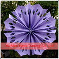 "2015 New 16"" Lavender Pinwheel Paper Flower Fan wedding Hanging Decoration"