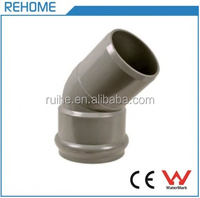 Plastic F/S Brass 45 Degree Elbow with Rubber Ring PVC Pipe Fitting