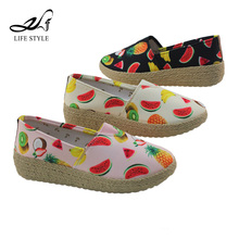 Alibaba Fruit Casual Jute Espadrilles Sole Slip On Safty Lady Comfort Shoes