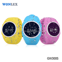 Wonlex cheap android gps smart Waterproof IP67 GW300S/Q520S OLED Display watch mobile sim card gps for kids