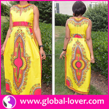 China Manufacture Women Clothing Africa Print Dress Plus Size Clothing Long Dress