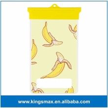 Factory Price Fruit Design Banana Diving Pouch Shell for iPhone 6/6 Plus Super Waterproof Cell Phone Bag
