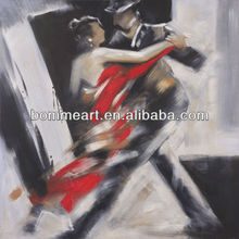 portrait oil painting on canvas Deep feeling of dance modern canvas paintings