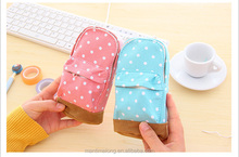 Korea stationery Multifunctional big capacity pencil case Dot school bag pattern Cute storage box