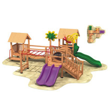Kindergarten outdoor playground slides imported wooden play sets