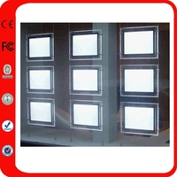 Wholesale Hanging Acrylic Pocket Real Estate Agent Window Led Display