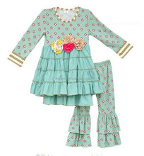 CONICE NINI brand wholesale 2017 boutique persnickety remake kids clothes sweet baby girl ruffle outfit