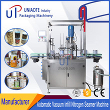 Automatic Steam Vacuum Can Seamer / Vacuum Nitrogen Canning Machine for Tin Cans