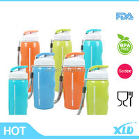 Promotional double wall plastic drinking bottle bpa safety wholesale