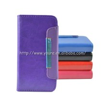 Popular Detachable wallet leather case for iphone 5g 5c 5s