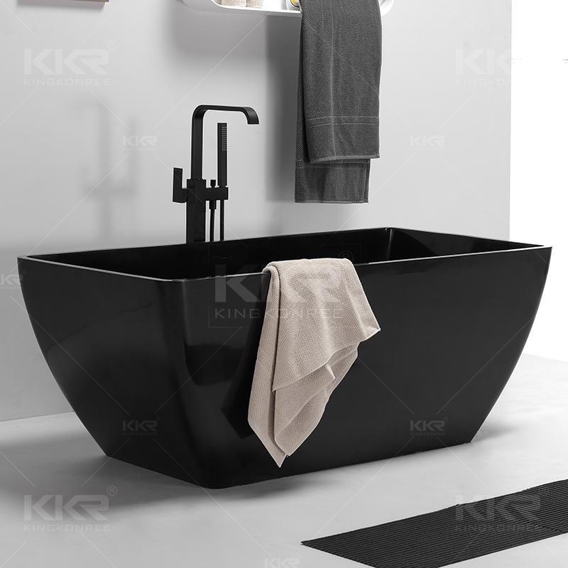 sgs corner black artificial stone bathtub similar to natural stone