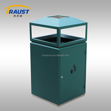 Hot sale outdoor metal recycle waste bin with good quality