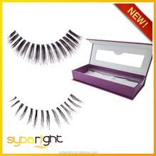 premium 100% cherry 3d human hair lashes extension with own package