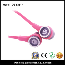 Low MOQ Super Bass sound earphones,Cheap high quality Earphones for mobile, Mp4, laptop computer... (OS-E1517)