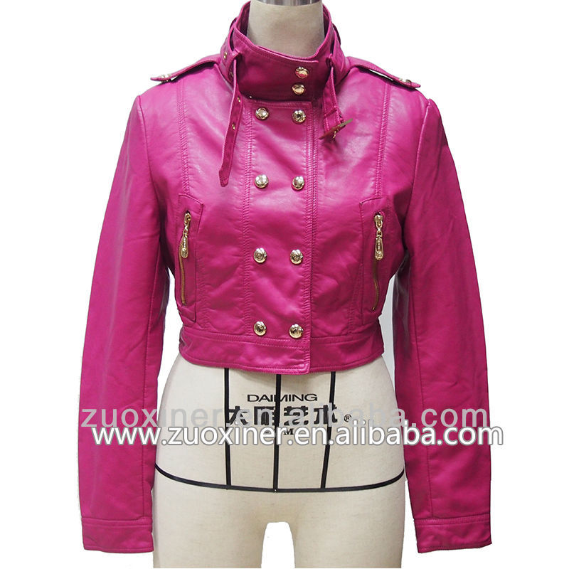 fashion leather ladies motorbike jackets