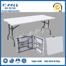 6 Feet HDPE Blow Mold Table Fold in Half Table