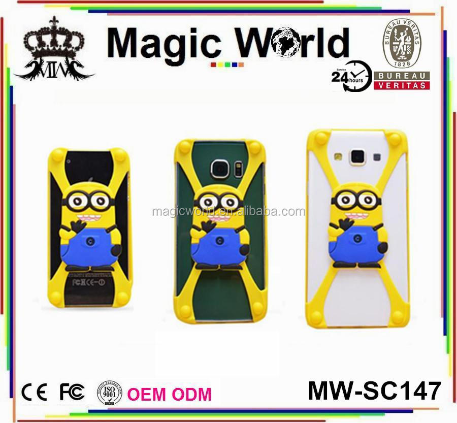 "minion universal silicone bumper frame case for mobile smartphone 4"" 5"" 6"" for tablet 10"""