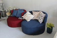 High quality modern living room round sofas bed furniture