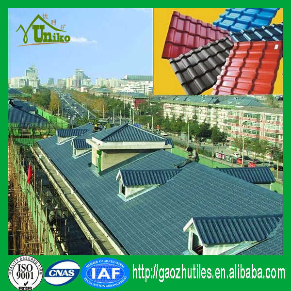 prefab homes spanish tiles design best roof tiles/Corrugated pvc material roofing sheet