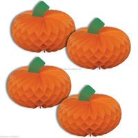 Orange Honeycomb Paper Pumpkin 30cm Halloween Party Thanksgiving day Decoration
